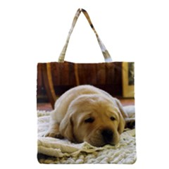 2 Puppy Yl Grocery Tote Bag