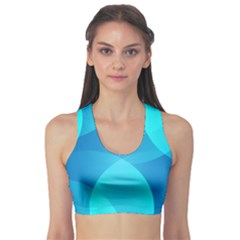 Abstract Blue Wallpaper Wave Sports Bra