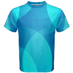 Abstract Blue Wallpaper Wave Men s Cotton Tee