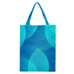 Abstract Blue Wallpaper Wave Classic Tote Bag