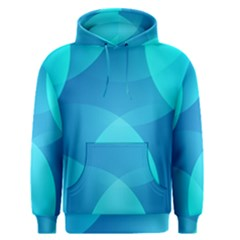 Abstract Blue Wallpaper Wave Men s Pullover Hoodie