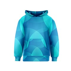 Abstract Blue Wallpaper Wave Kids  Pullover Hoodie