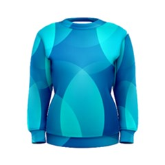 Abstract Blue Wallpaper Wave Women s Sweatshirt