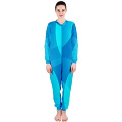 Abstract Blue Wallpaper Wave Onepiece Jumpsuit (ladies)