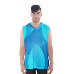 Abstract Blue Wallpaper Wave Men s Basketball Tank Top