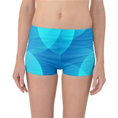 Abstract Blue Wallpaper Wave Boyleg Bikini Bottoms