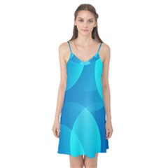 Abstract Blue Wallpaper Wave Camis Nightgown
