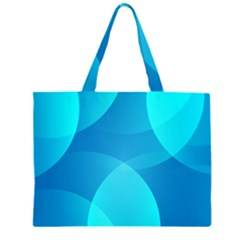 Abstract Blue Wallpaper Wave Large Tote Bag