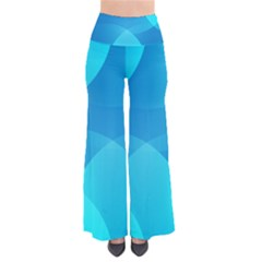 Abstract Blue Wallpaper Wave Pants