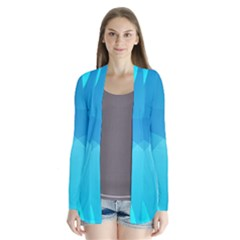 Abstract Blue Wallpaper Wave Cardigans