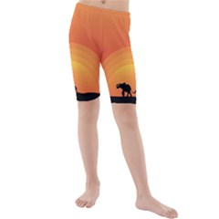 Elephant Baby Elephant Wildlife Kids  Mid Length Swim Shorts