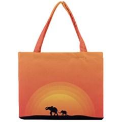 Elephant Baby Elephant Wildlife Mini Tote Bag