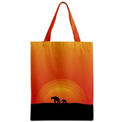 Elephant Baby Elephant Wildlife Zipper Classic Tote Bag