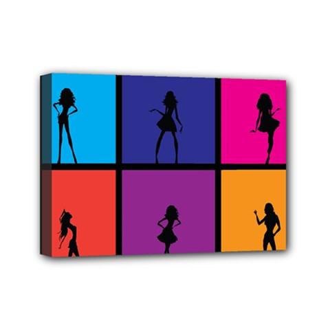 Girls Fashion Fashion Girl Young Mini Canvas 7  X 5