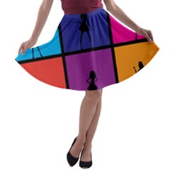 Girls Fashion Fashion Girl Young A Line Skater Skirt