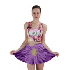Purple Flower Floral Purple Flowers Mini Skirt