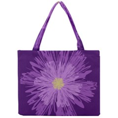 Purple Flower Floral Purple Flowers Mini Tote Bag