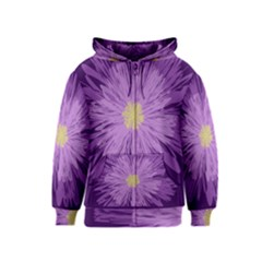 Purple Flower Floral Purple Flowers Kids  Zipper Hoodie