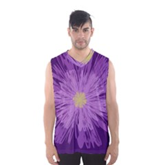 Purple Flower Floral Purple Flowers Men s Basketball Tank Top