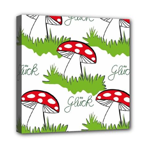 Mushroom Luck Fly Agaric Lucky Guy Mini Canvas 8  x 8