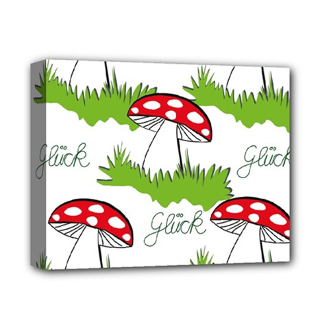Mushroom Luck Fly Agaric Lucky Guy Deluxe Canvas 14  x 11