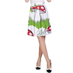 Mushroom Luck Fly Agaric Lucky Guy A Line Skirt