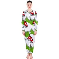 Mushroom Luck Fly Agaric Lucky Guy Onepiece Jumpsuit (ladies)