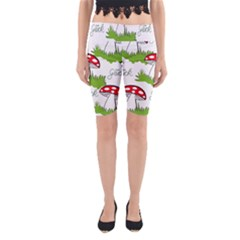 Mushroom Luck Fly Agaric Lucky Guy Yoga Cropped Leggings