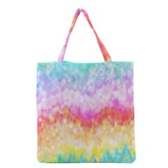 Rainbow Pontilism Background Grocery Tote Bag