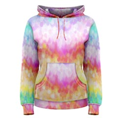 Rainbow Pontilism Background Women s Pullover Hoodie
