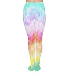 Rainbow Pontilism Background Women s Tights
