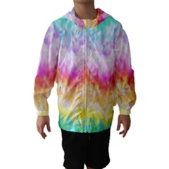 Rainbow Pontilism Background Hooded Wind Breaker (kids)