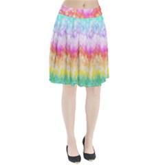 Rainbow Pontilism Background Pleated Skirt