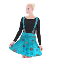 Decorative Dots Pattern Suspender Skater Skirt