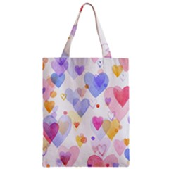 Watercolor cute hearts background Classic Tote Bag