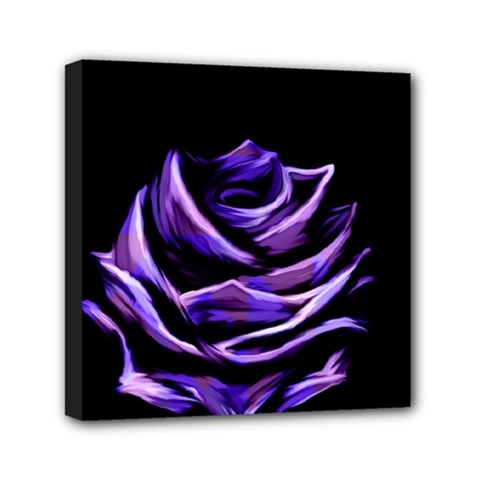 Rose Flower Design Nature Blossom Mini Canvas 6  X 6