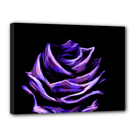 Rose Flower Design Nature Blossom Canvas 16  X 12