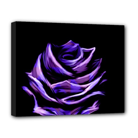 Rose Flower Design Nature Blossom Deluxe Canvas 20  X 16
