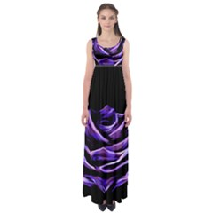 Rose Flower Design Nature Blossom Empire Waist Maxi Dress