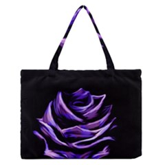 Rose Flower Design Nature Blossom Medium Zipper Tote Bag