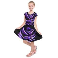 Rose Flower Design Nature Blossom Kids  Short Sleeve Dress