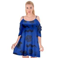 Aztecs Pattern Cutout Spaghetti Strap Chiffon Dress