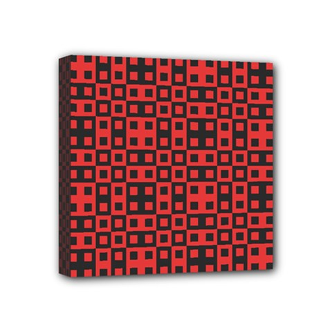 Abstract Background Red Black Mini Canvas 4  X 4