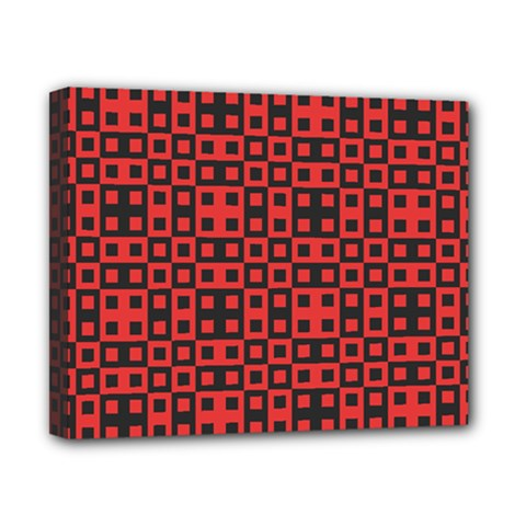 Abstract Background Red Black Canvas 10  x 8