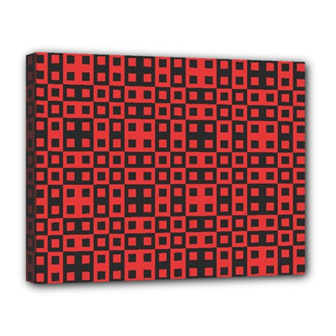 Abstract Background Red Black Canvas 14  x 11
