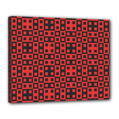 Abstract Background Red Black Canvas 20  x 16