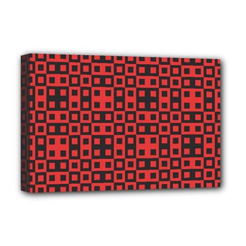 Abstract Background Red Black Deluxe Canvas 18  x 12