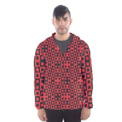 Abstract Background Red Black Hooded Wind Breaker (men)