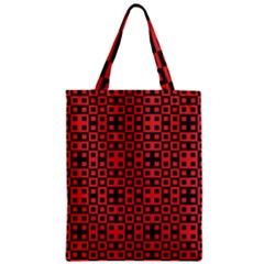 Abstract Background Red Black Zipper Classic Tote Bag