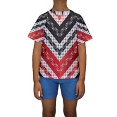 Snow Pattern 4 170506 Kids  Short Sleeve Swimwear